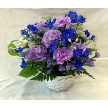 季節のアレンジメント(紫・ブルー系)