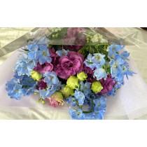 ブルー・紫系花束
