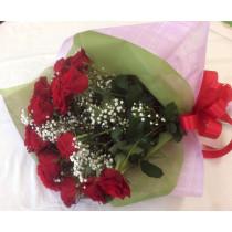 バラとかすみ草の豪華花束