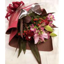季節の花束(赤・ピンク系)